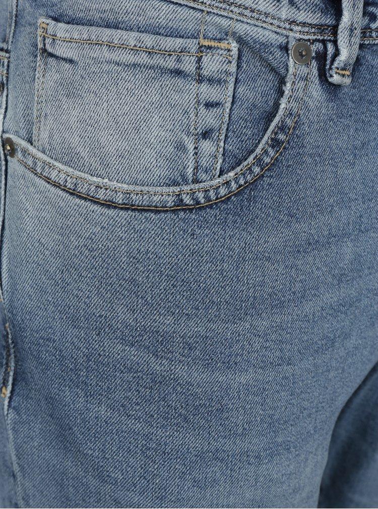 Blugi slim fit albastru deschis cu aspect prespalat - Selected Homme Leon