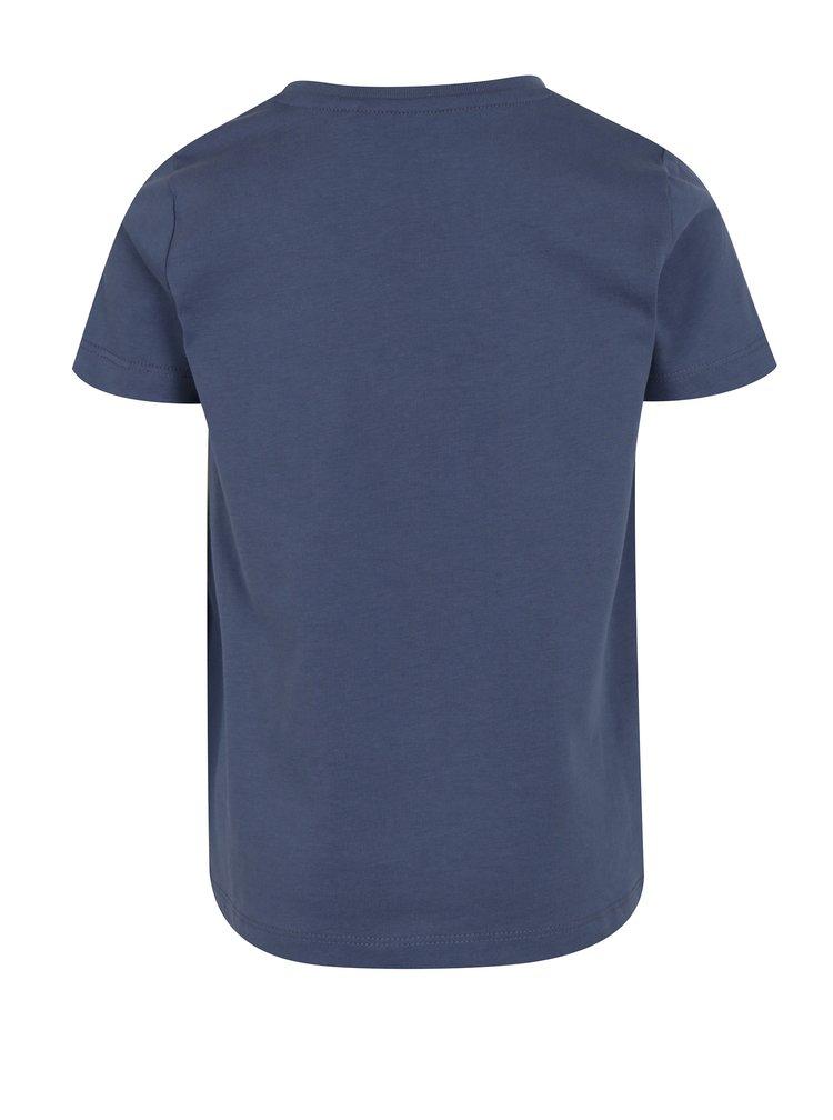 Modro-krémové klučičí tričko s potiskem name it Janko