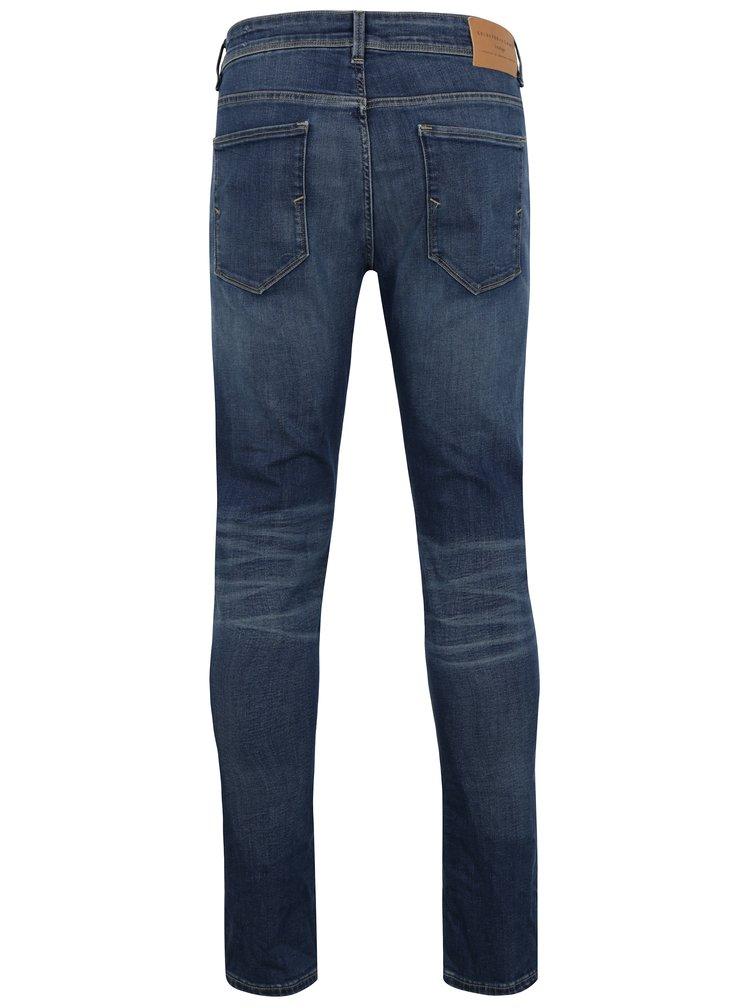 Tmavě modré slim fit džíny Selected Homme Leon