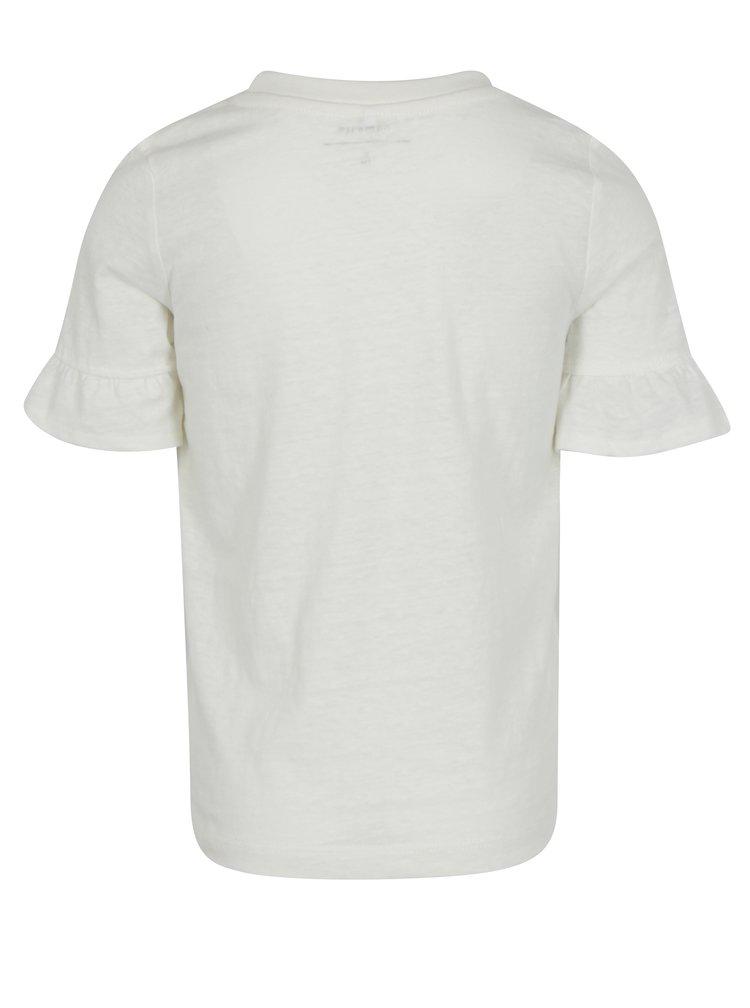 Krémové holčičí tričko s potiskem name it Jobila