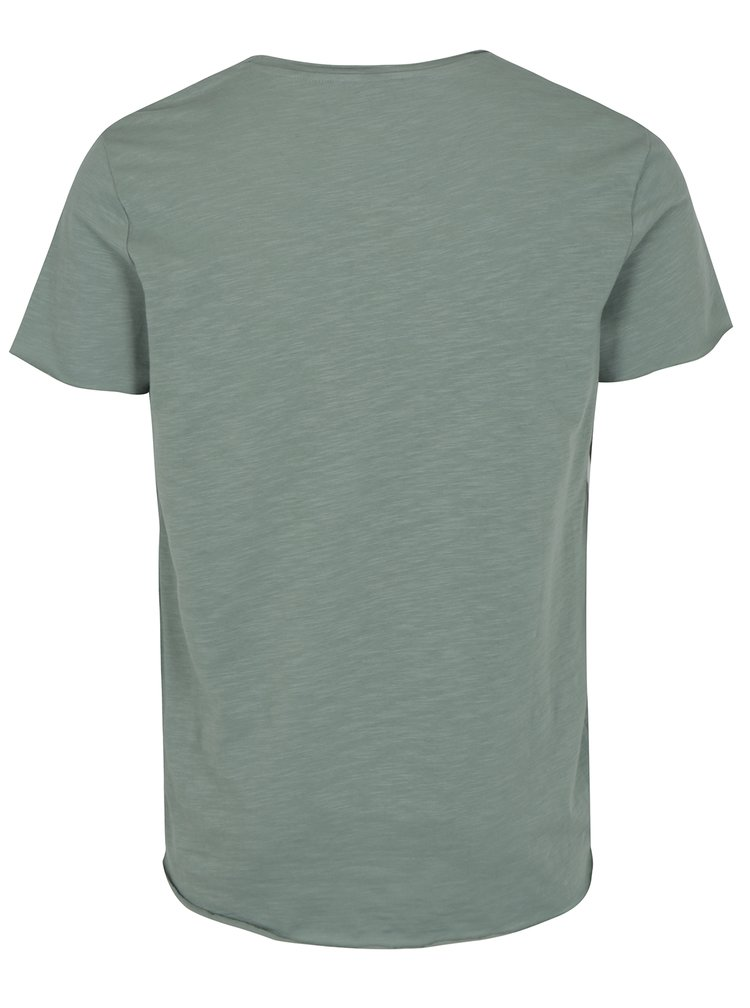 Tricou gri verzui basic - Jack & Jones Bas