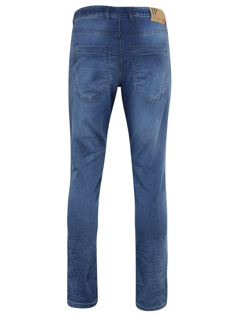 Blugi regular fit albastri cu talie elastica JP 1880