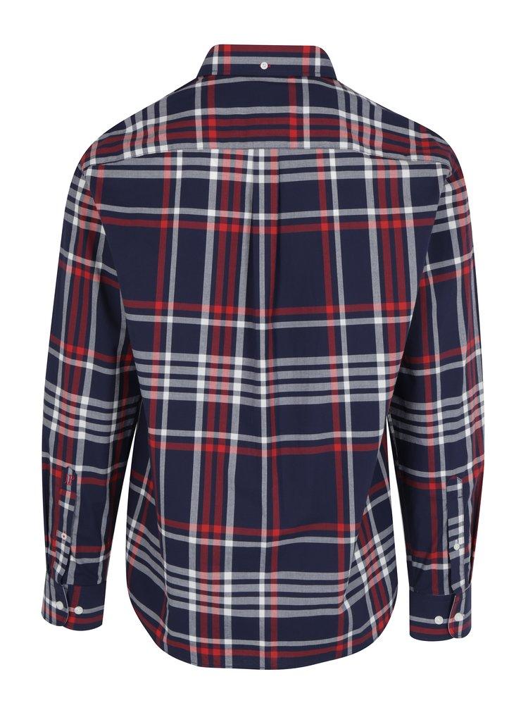 Modrá károvaná modern fit košeľa JP 1880