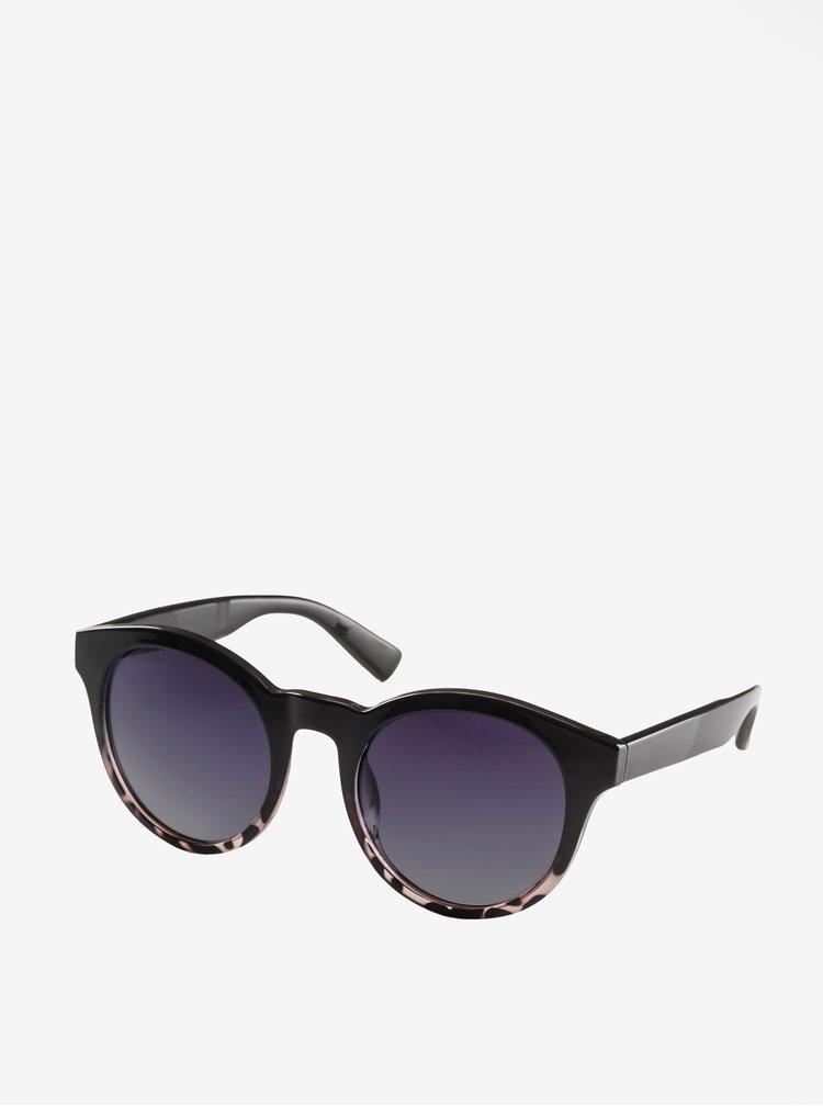Hnědo-černé dámské sluneční brýle Pilgrim Kimana