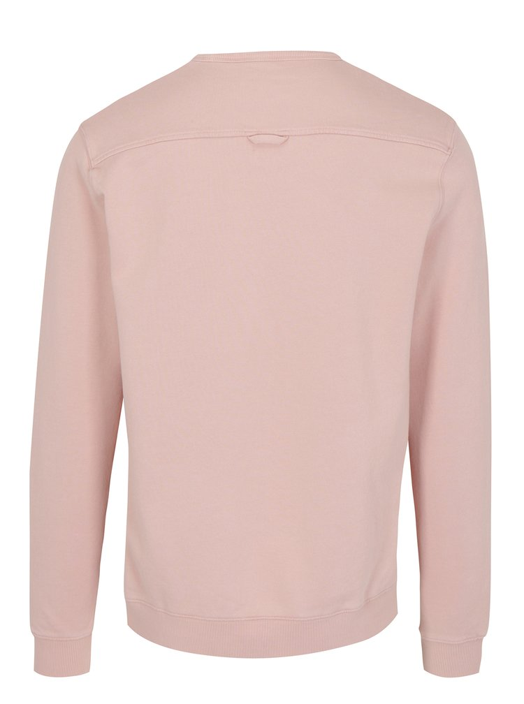 Světle růžová basic mikina Farah Pickwell