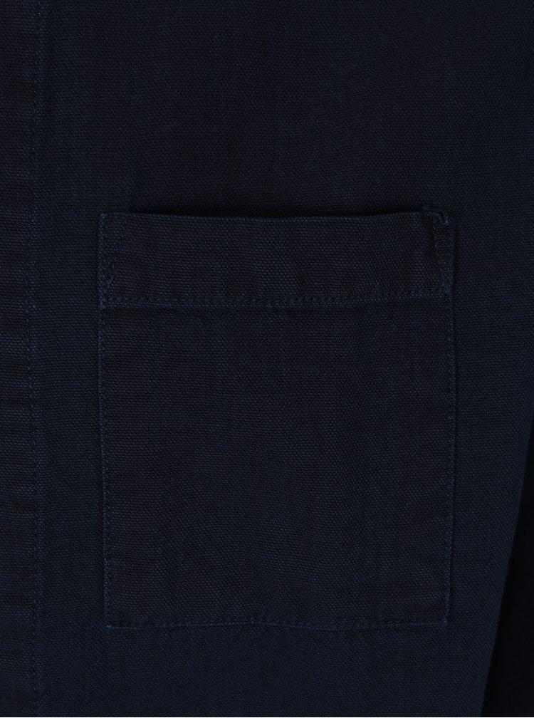 Camasa bleumarin cu buzunare aplicate - Farah Delamare