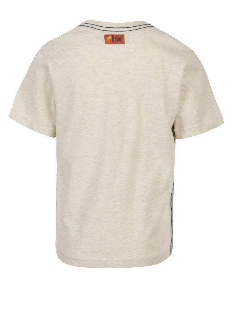 Krémové klučičí tričko s potiskem Bóboli