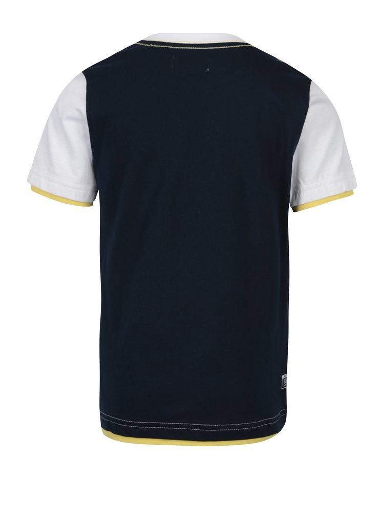 Bílo-modré pruhované klučičí tričko s potiskem Bóboli