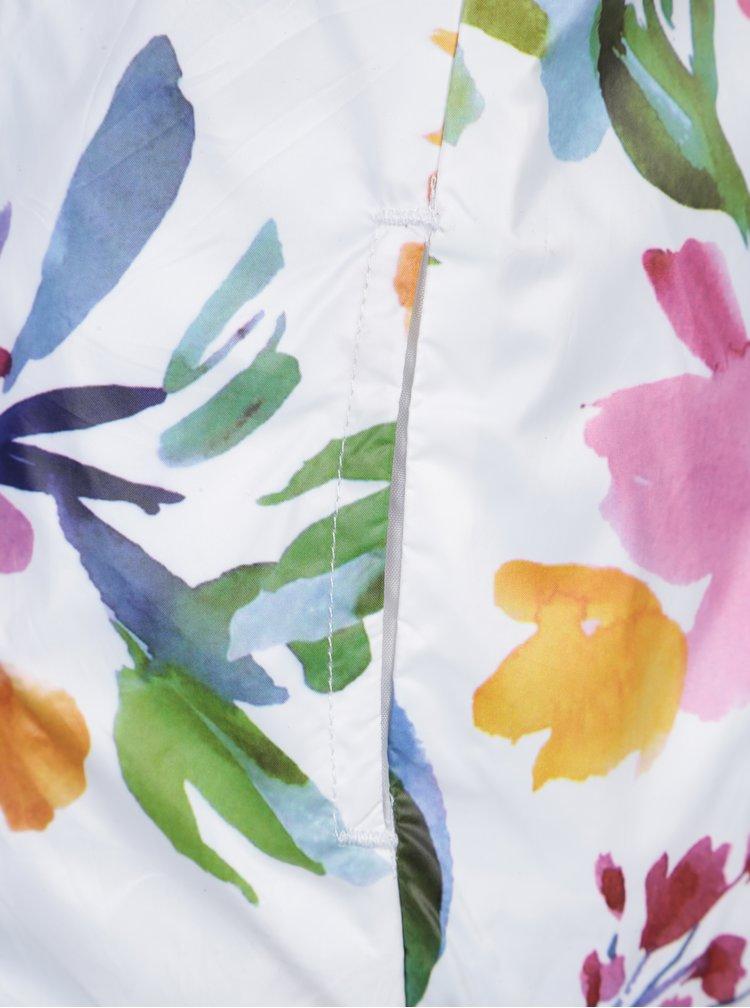 Bílá květovaná holčičí oboustranná bunda Bóboli