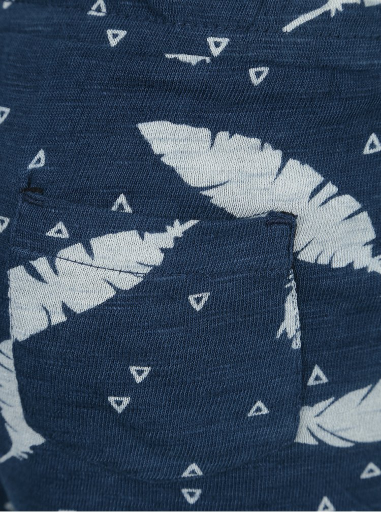 Tmavě modré holčičí vzorované kraťasy Bóboli