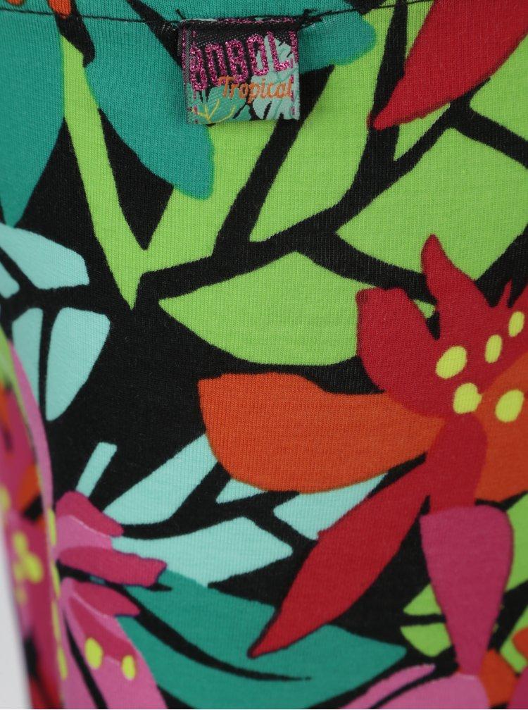 Růžovo-zelené vzorované holčičí legíny Bóboli