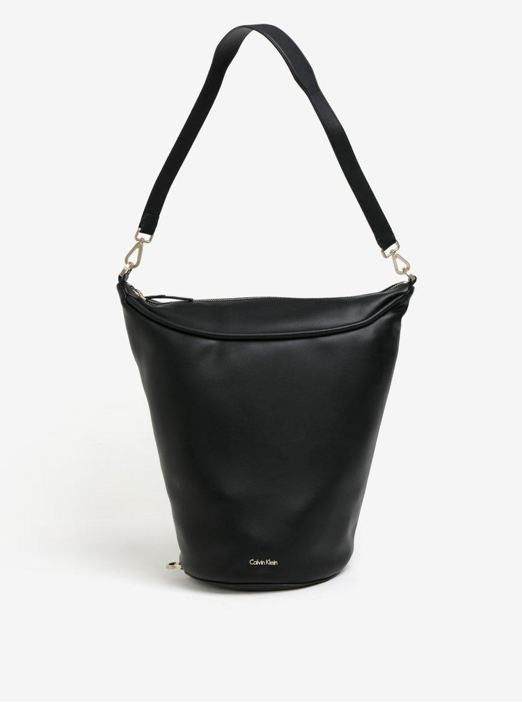 Čierna kabelka cez rameno Calvin Klein Jeans Suave
