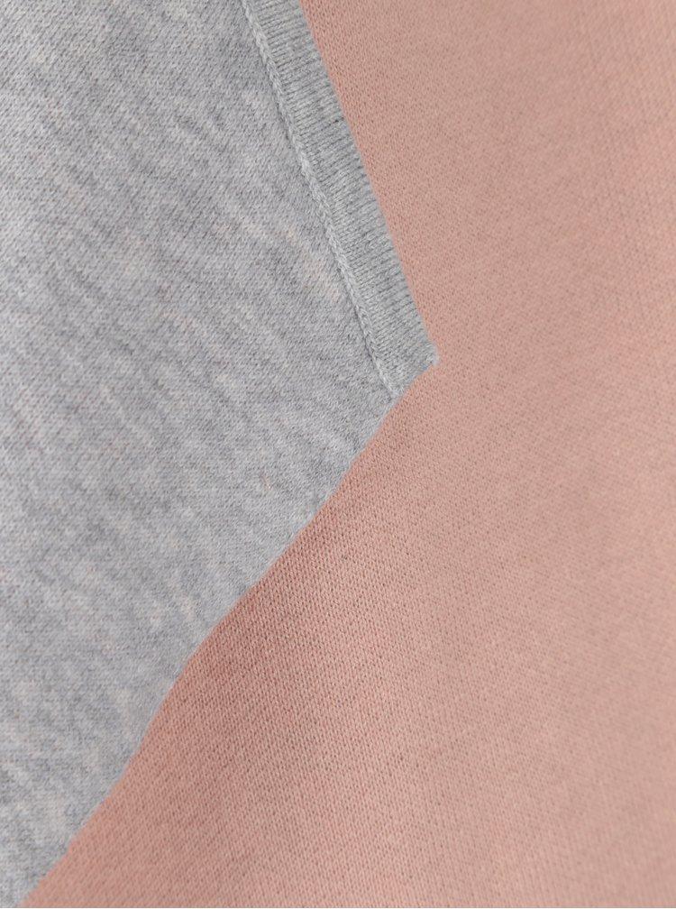 Šedo-růžový oboustranný žíhaný kardigan Yest