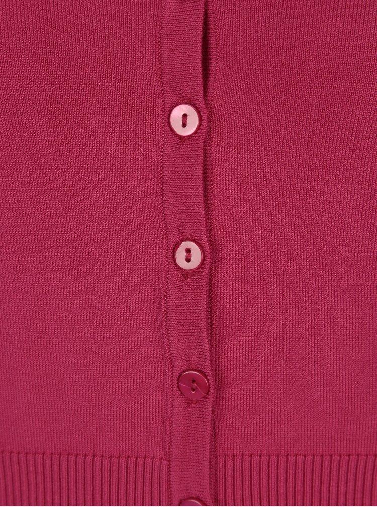 Růžový krátký kardigan Yest