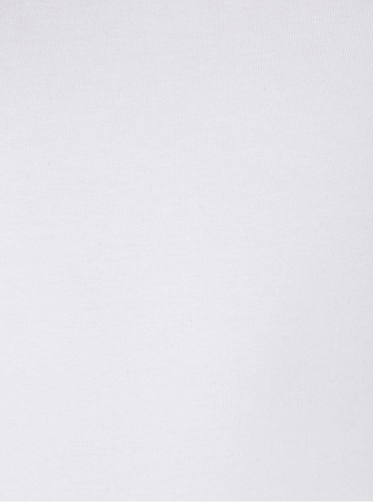 Top alb cu bretele subtiri reglabile - Yest