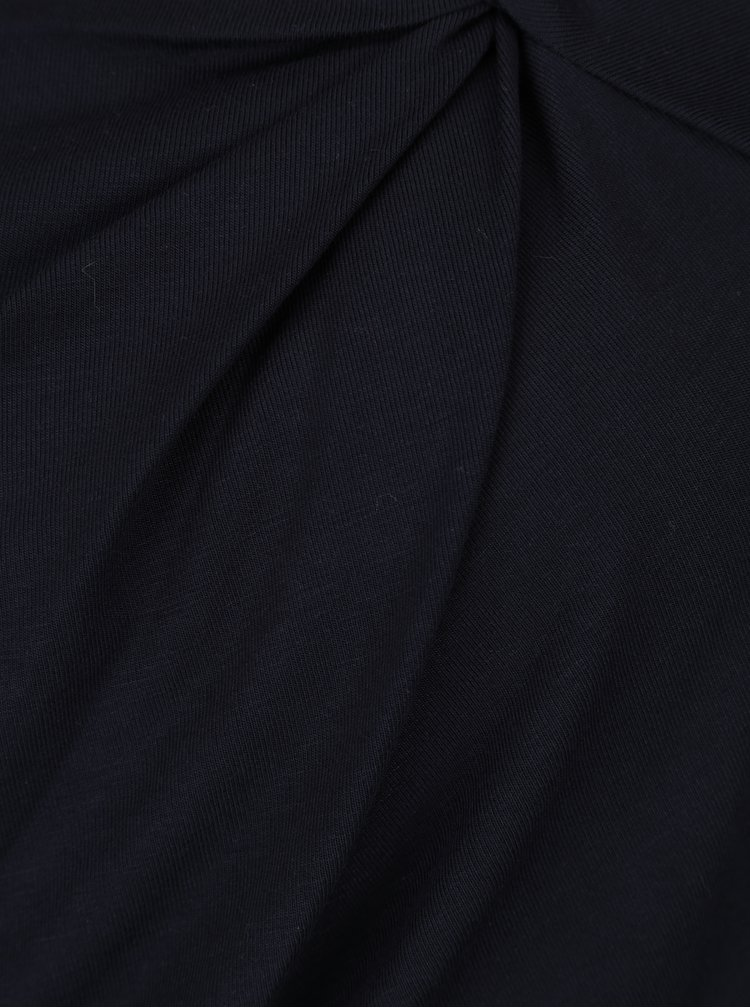 Bluza bleumarin cu nod decorativ Pietro Filipi