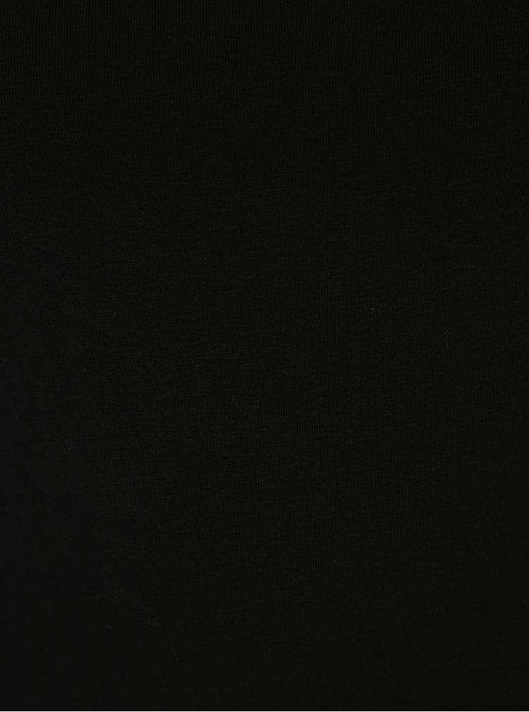 Maiou negru cu bretele subtiri reglabile - Yast