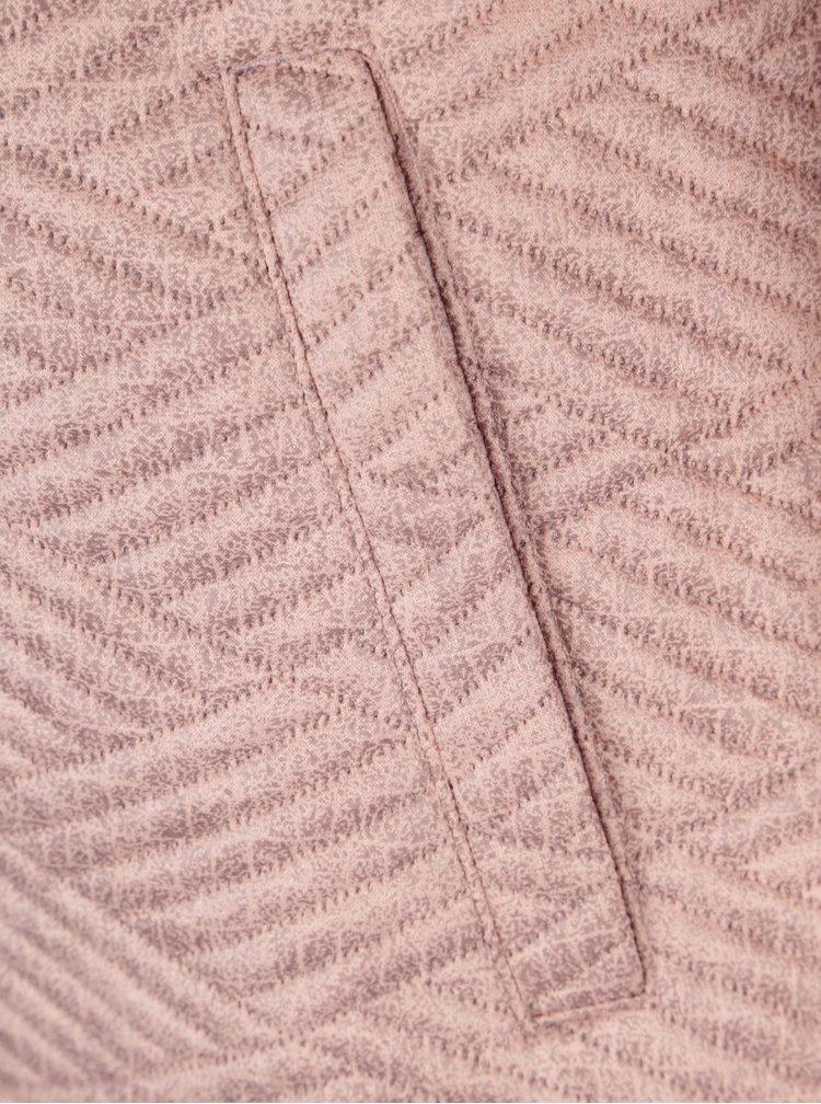 Pardesiu roz cu model geometric Yest