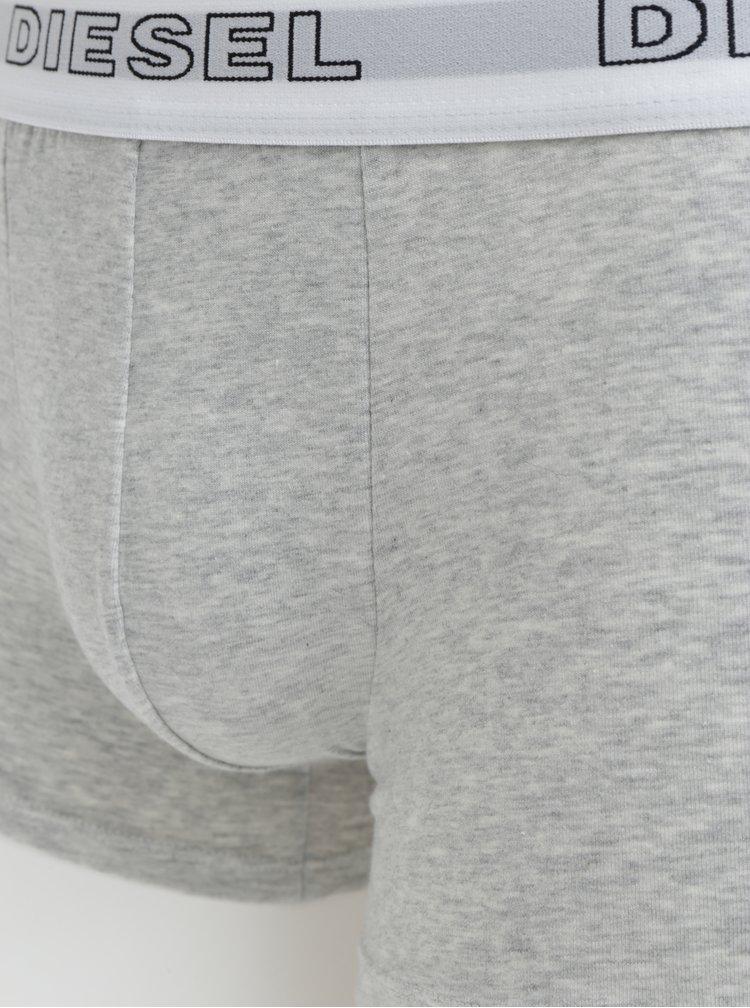 Set de 3 perechi de boxeri multicolori cu logo in talie - Diesel