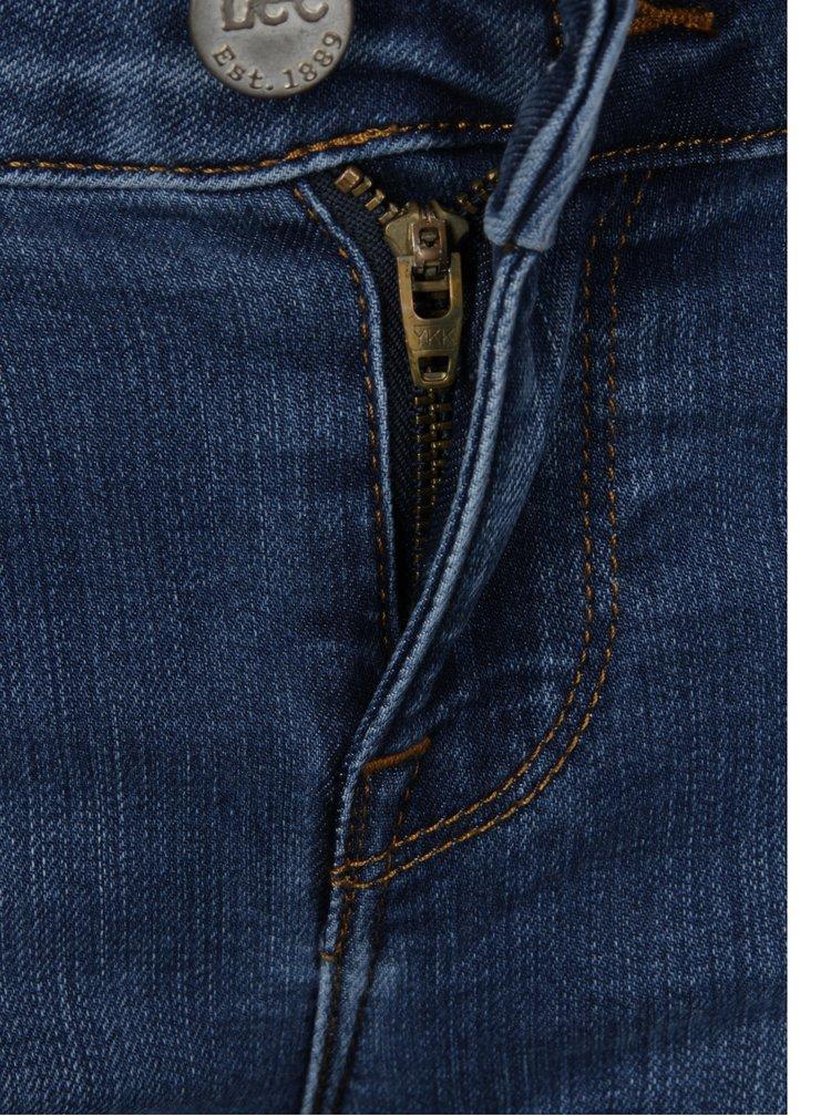 Modré dámské zkrácené skinny džíny s nízkým pasem Lee Scarlett