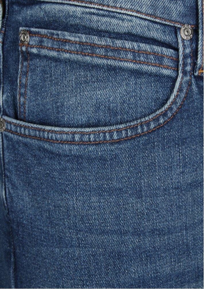 Blugi slim fit albastri cu aspect prespalat pentru barbati - Lee Luke