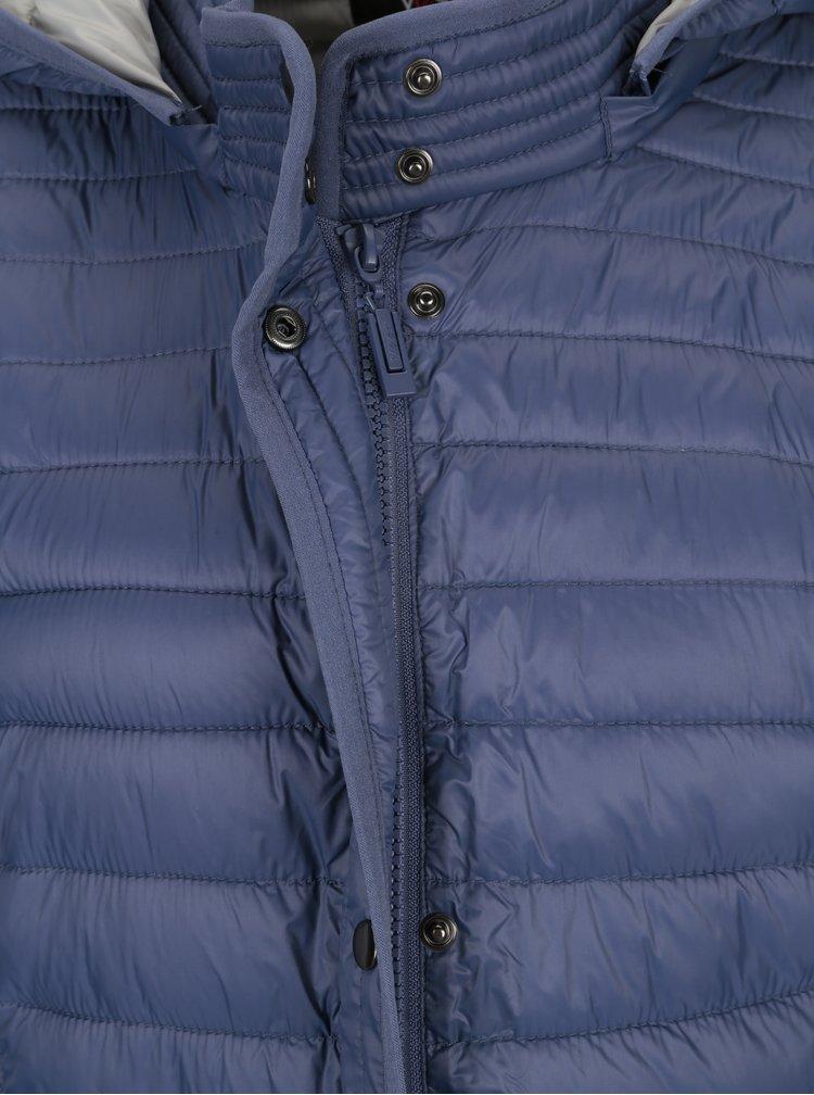 Modrý prošívaný kabát Yest