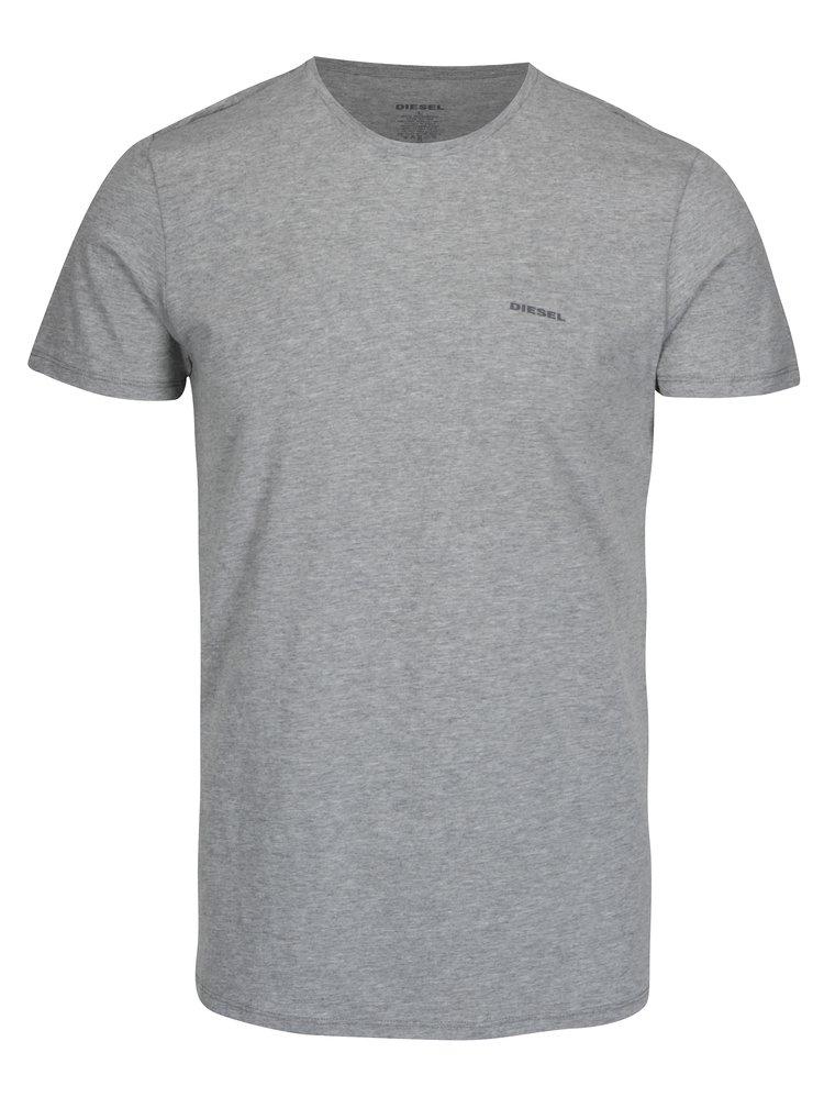 Sada tří triček pod košili v bílé, černé a šedé barvě Diesel