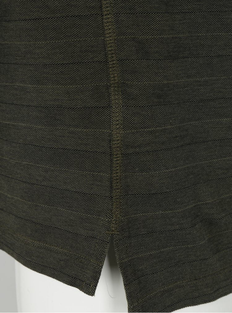 Kaki pánska polokošeľa Calvin Klein Pallas