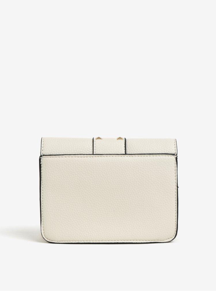Krémová crossbody kabelka s detaily ve zlaté barvě Miss Selfridge
