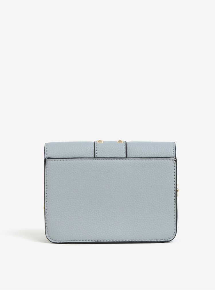 Světle modrá crossbody kabelka s detaily ve zlaté barvě Miss Selfridge