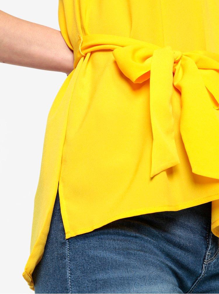 Žltý top s mašľou French Connection
