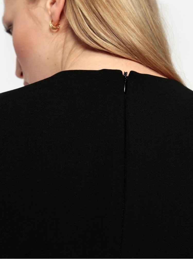 Černé minišaty s véčkovým výstřihem French Connection Whisper