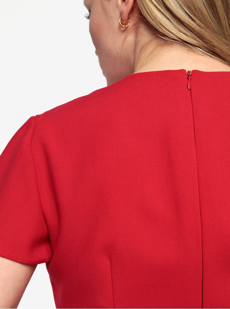 Červené minišaty s véčkovým výstřihem French Connection Whisper