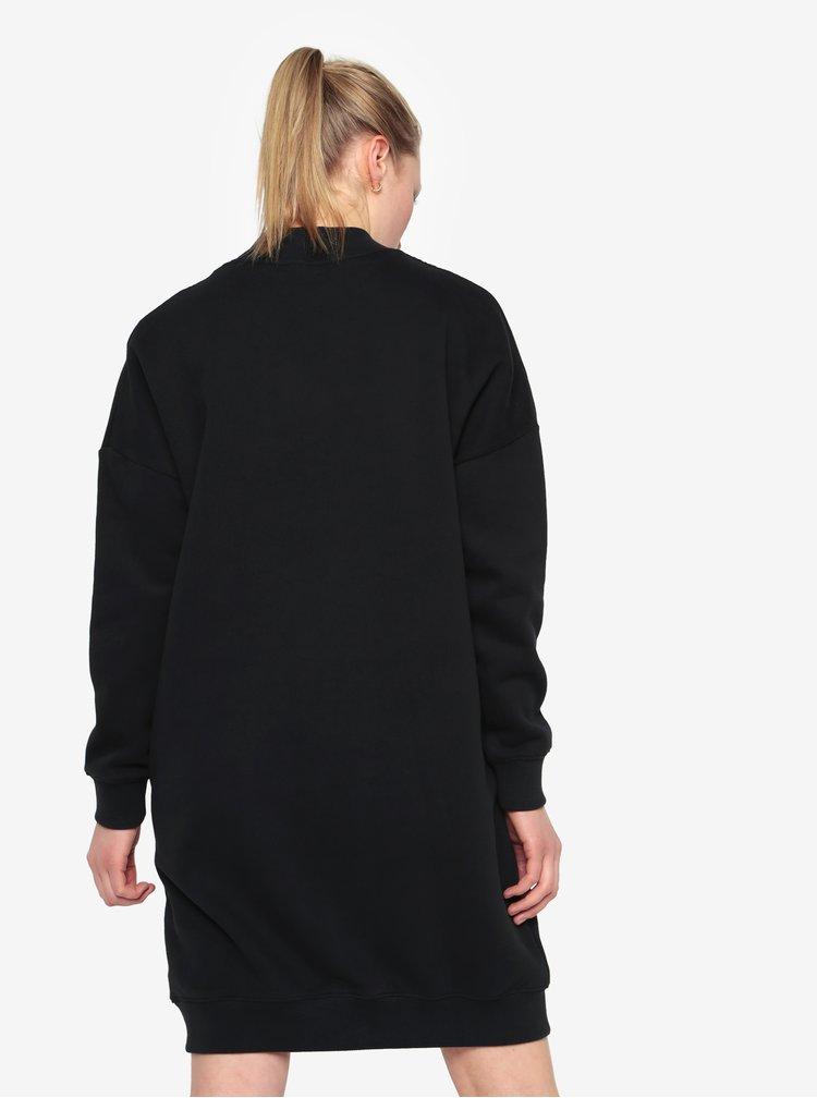Černé mikinové šaty s dlouhým rukávem Calvin Klein Jeans Denver