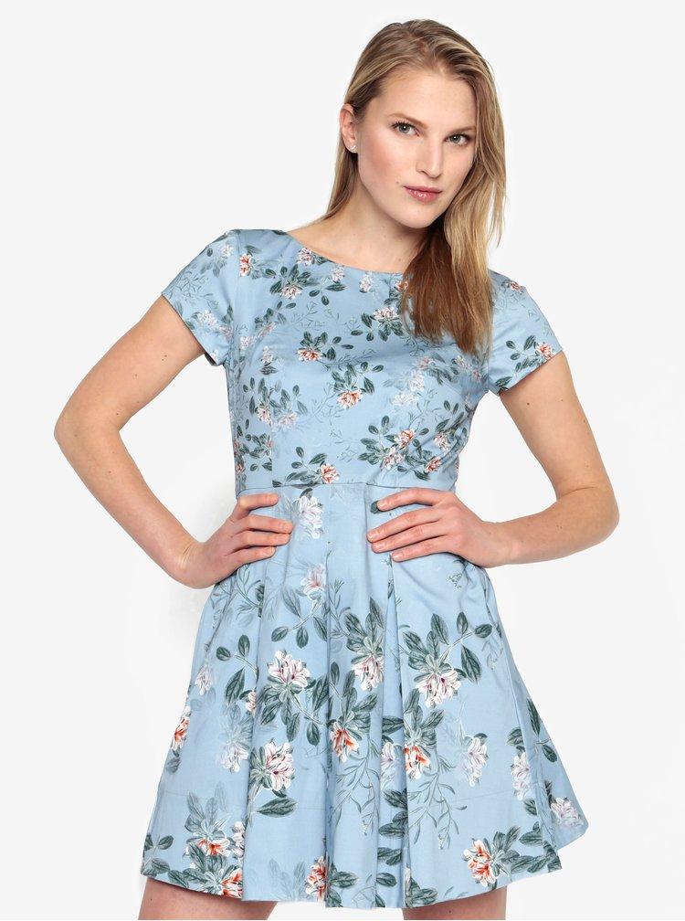Modré kvetované šaty French Connection Kioa