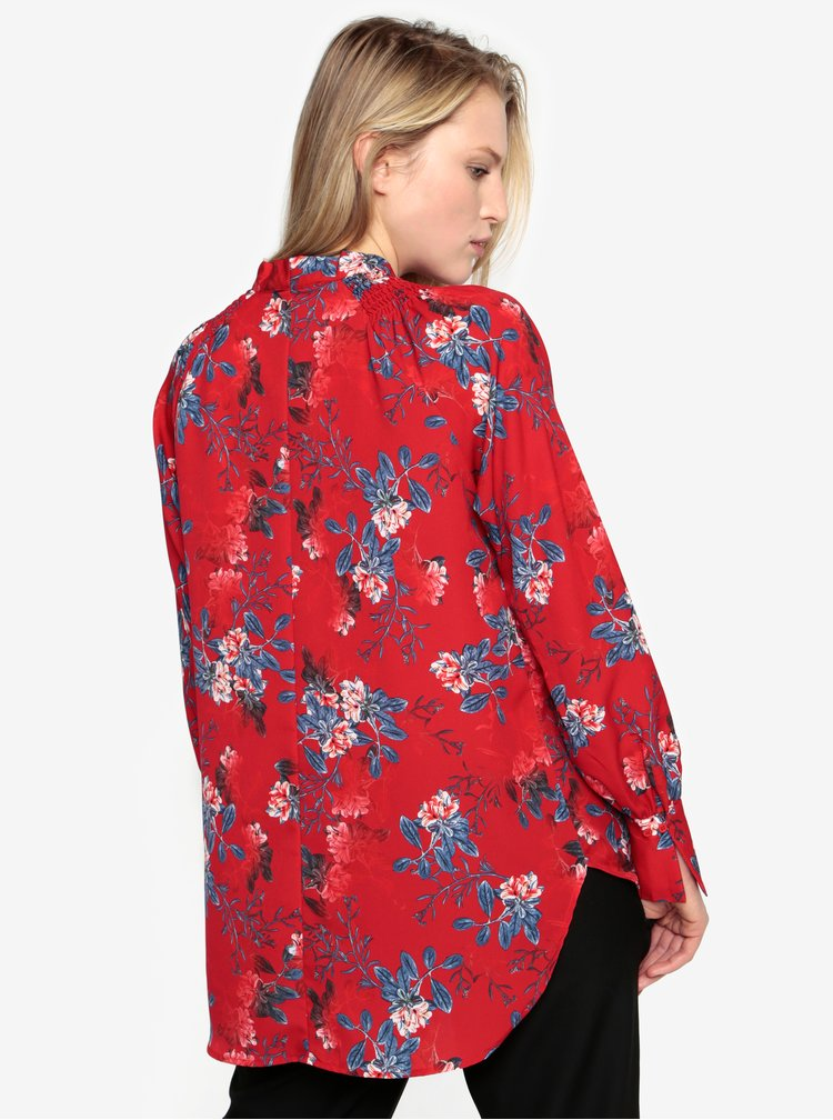 Camasa rosie cu print floral French Connection Kioa