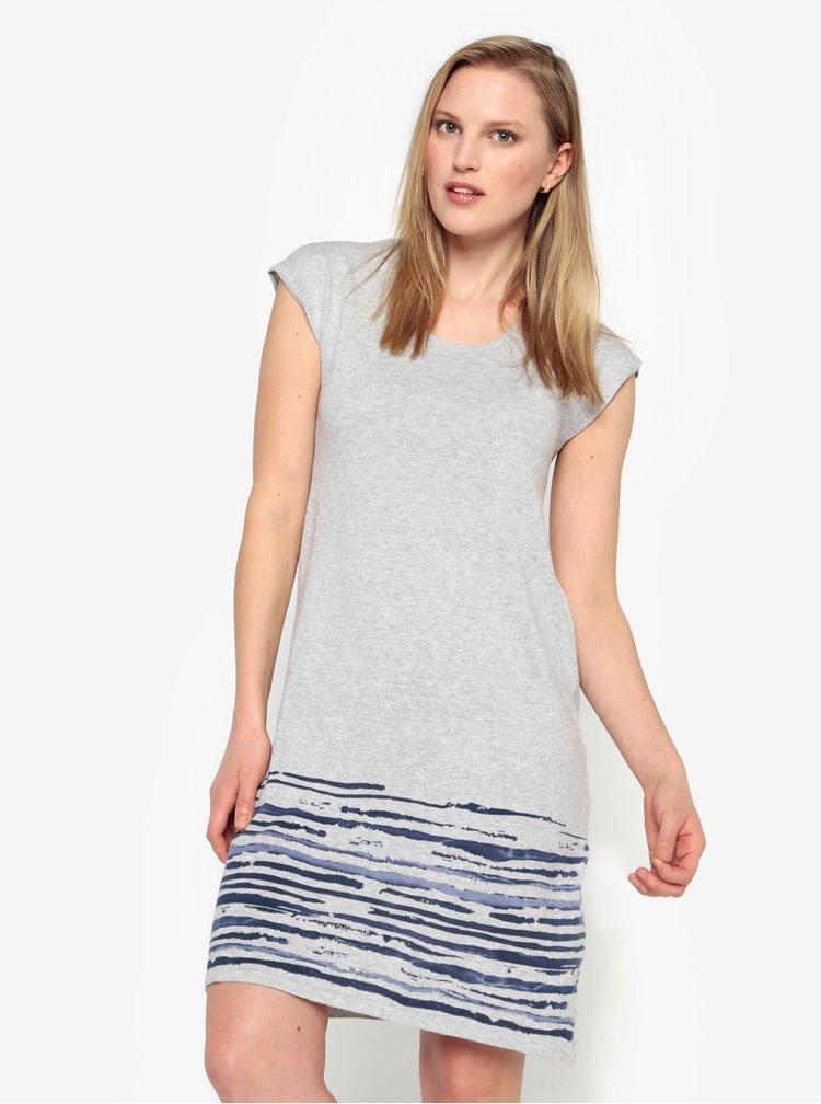 Sivé melírované svetrové šaty bez rukávov Yest