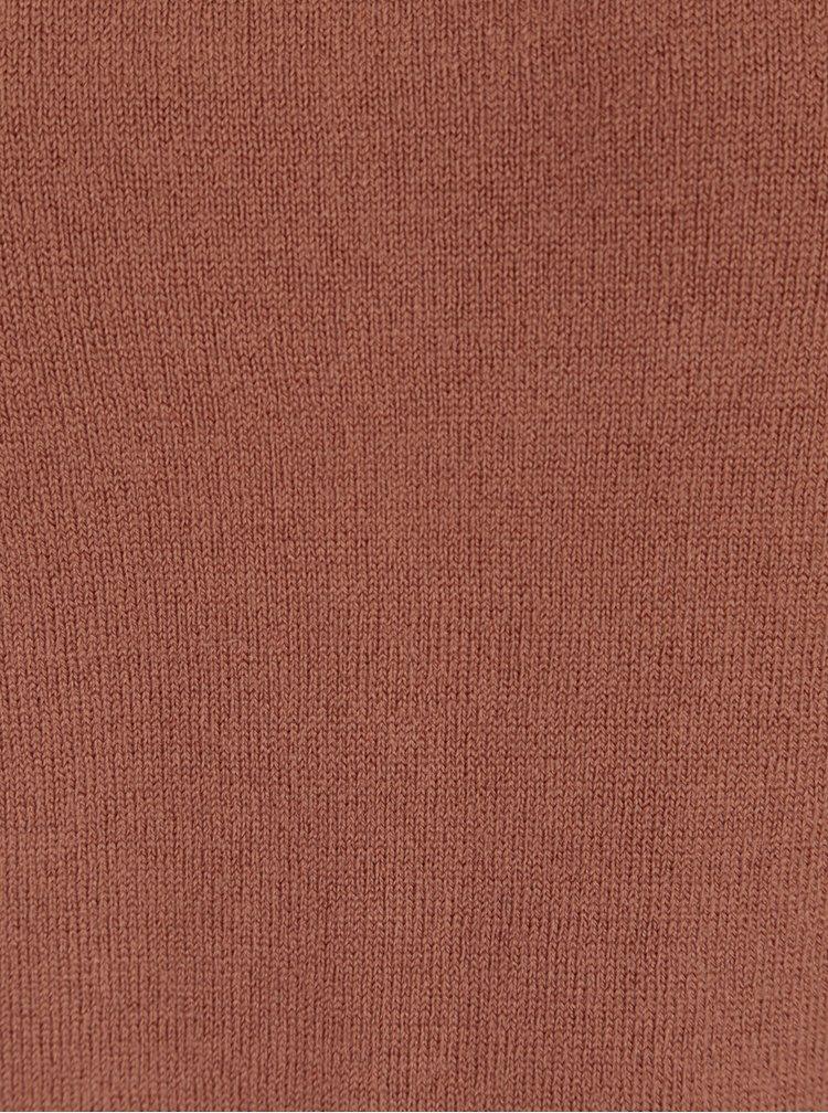 Cihlový lehký svetr Jacqueline de Yong Anora