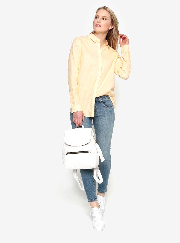 Žltá pruhovaná košeľa Selected Femme Noella