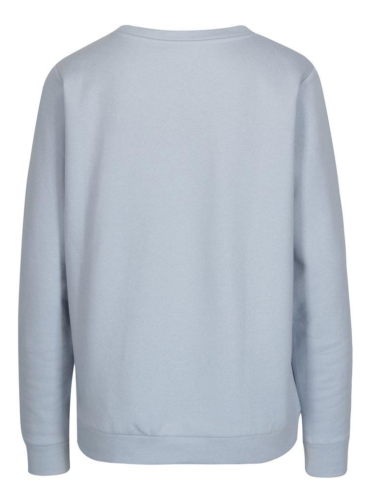 Bluza bleu cu model text Jacqueline de Yong Tori