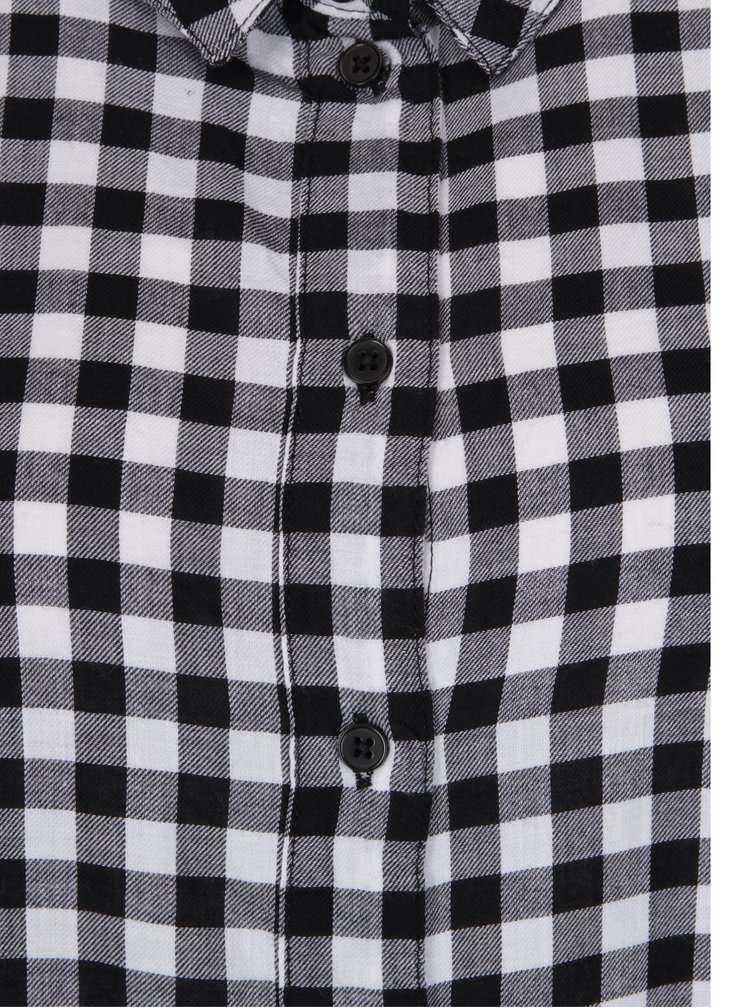 Bílo-černé kostkované košilové šaty Jacqueline de Yong Ally