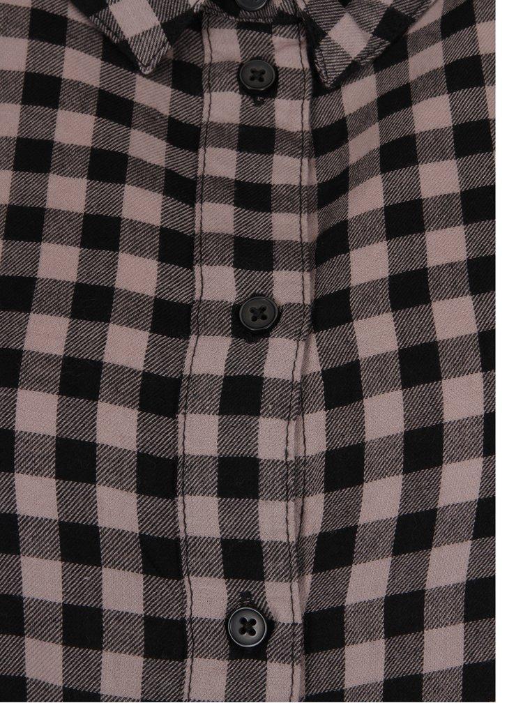 Růžovo-černé kostkované košilové šaty Jacqueline de Yong Ally