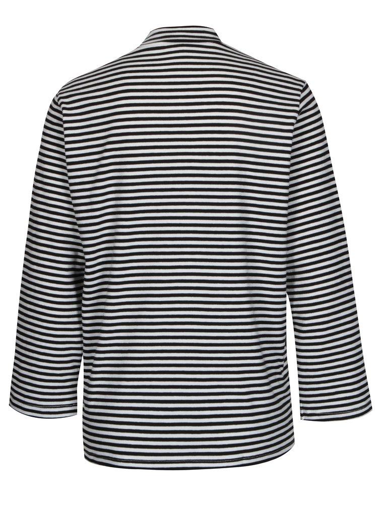 Bílo-černé pruhované tričko Jacqueline de Yong Gana