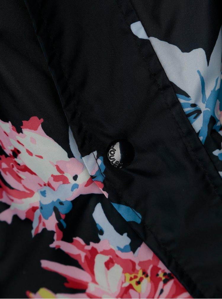 Černá dámská květovaná voděodolná parka Tom Joule Golightly