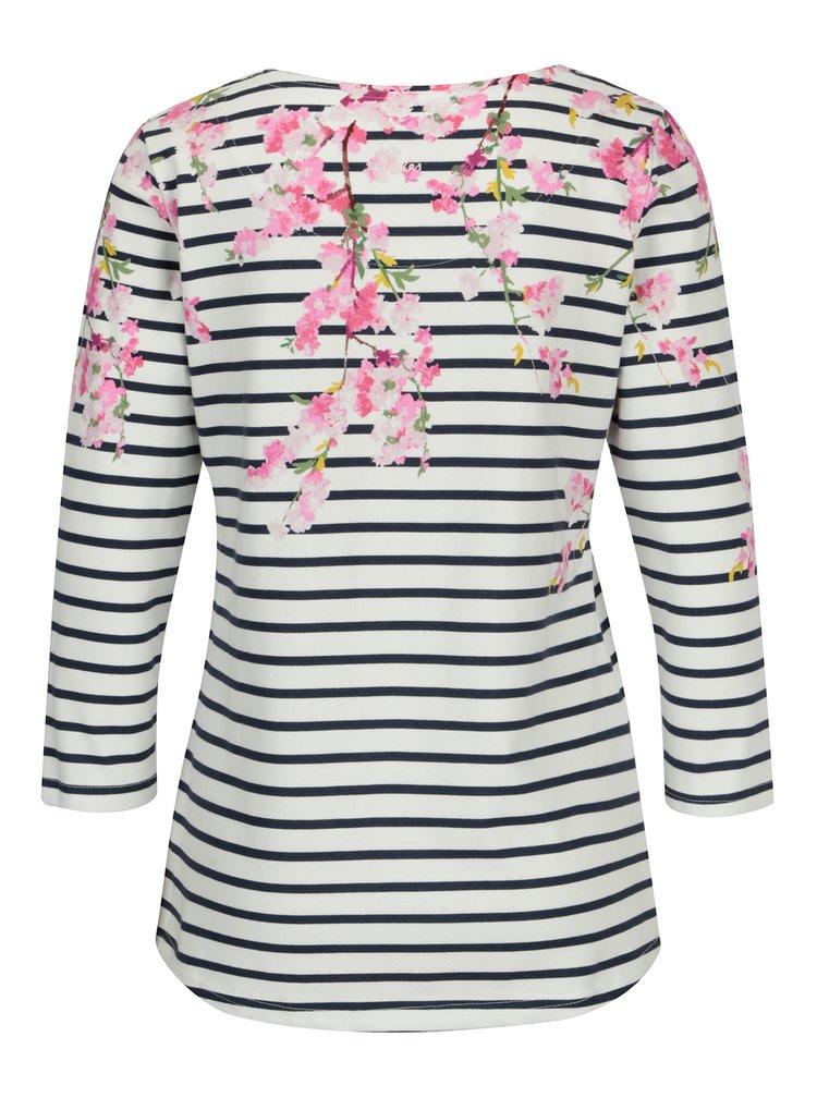 Krémové vzorované tričko Tom Joule Harbour