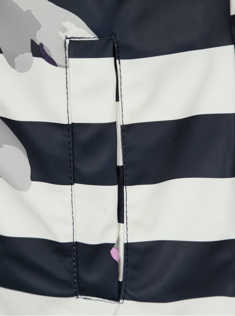 Krémovo-modrá pruhovaná pláštěnka Tom Joule Raindance
