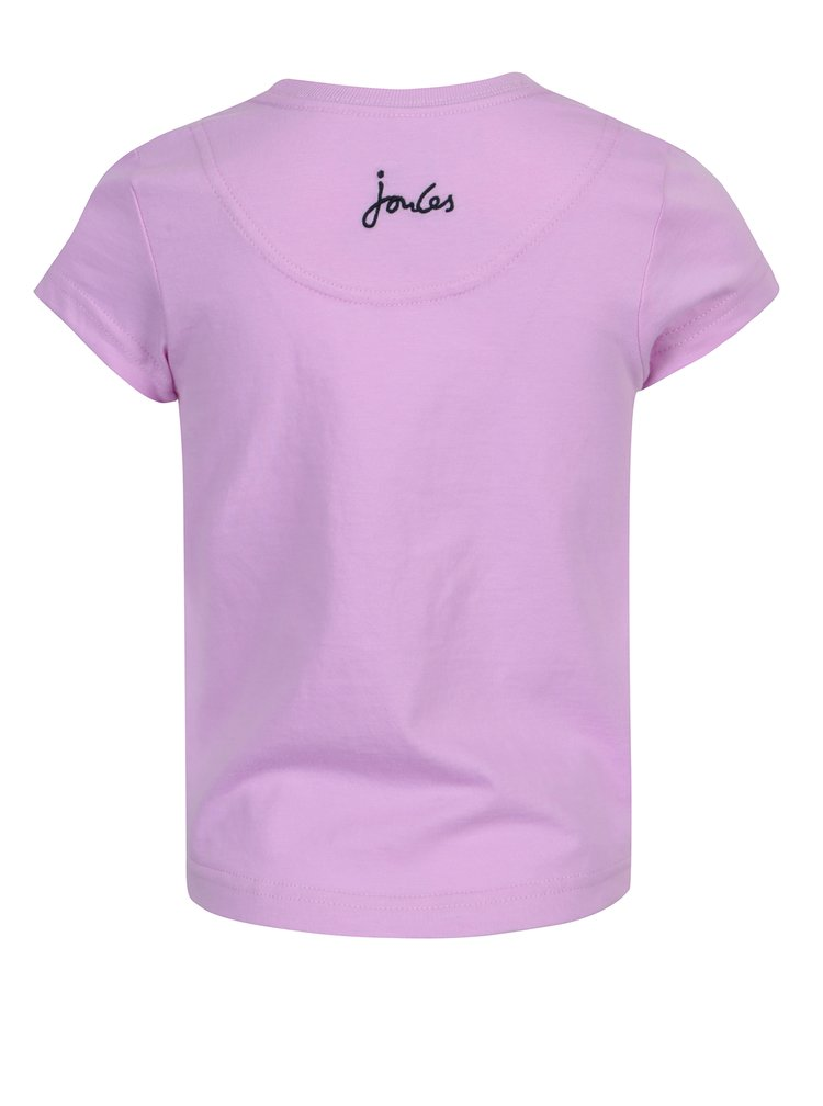 Fialové holčičí tričko s potiskem Tom Joule Pixie