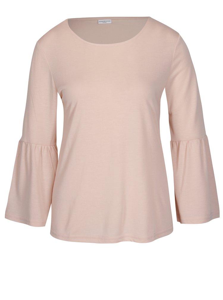 Světle růžové tričko s volány Jacqueline de Yong Minni