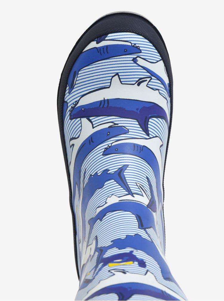 Tmavě modré klučičí vzorované holínky Tom Joule Welly