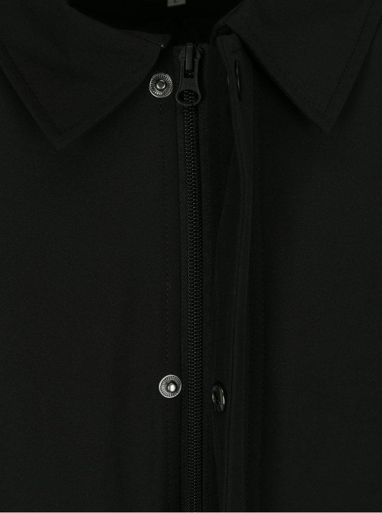 Černý voděodolný kabát Lindbergh